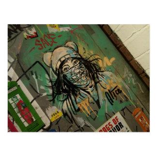 Graffitti and Wall art, city centre manchester Postcard