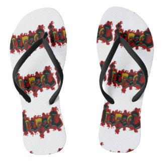 Graffitti Flip Flops