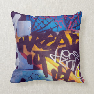 graffitti shirt cushion