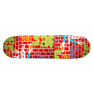 Graffitti spray painting Skateboard