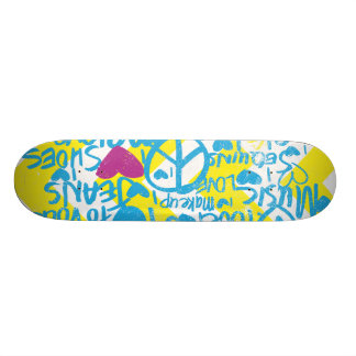Grafitti Aqua-Purple 21.3 Cm Mini Skateboard Deck