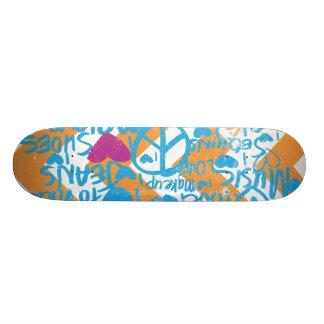 Grafitti Aqua-Purple Skateboard Deck