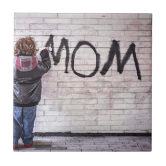 Grafitti For Mom Tile