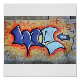 Grafitti image poster