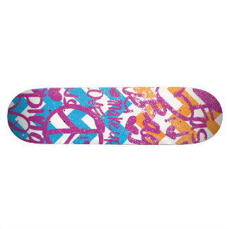 Grafitti Purple Skate Deck