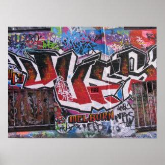 Grafitti - Street Art - Hosiers Lane - Melbourne Poster