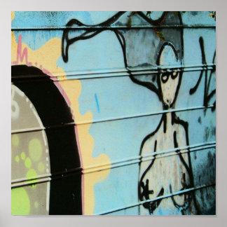 grafitti woman poster