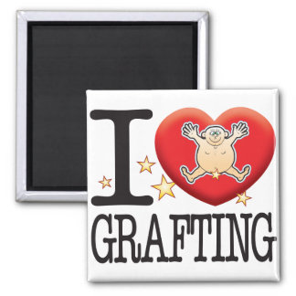 Grafting Love Man Square Magnet