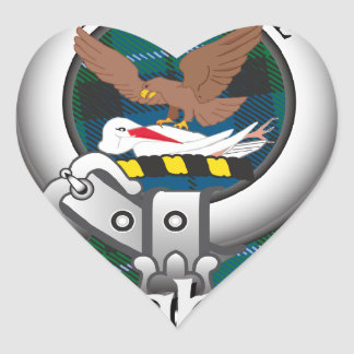 Graham Clan Heart Sticker