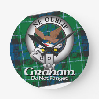 Graham Clan Round Clock
