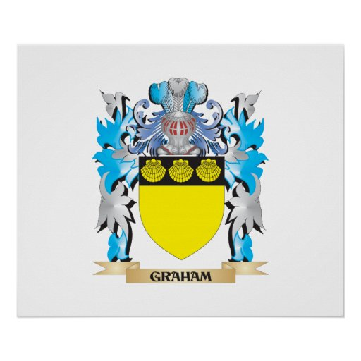 Graham Coat of Arms - Family Crest Poster