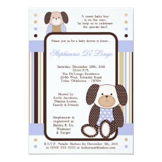 Graham Crackers Boy Blue Baby Shower Invitation