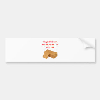 graham crackers bumper sticker