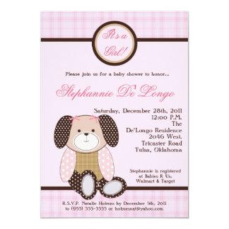 Graham Crackers Girl Pink Baby Shower Invitation