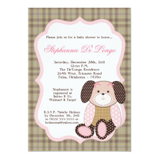 Graham Crackers Girl Pink Baby Shower Invitation