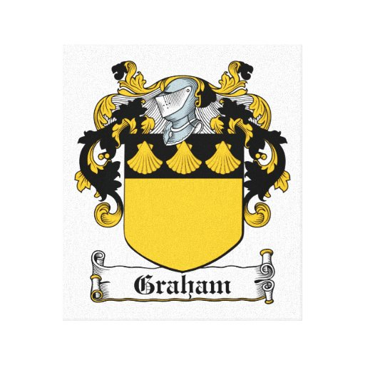 Graham Family Crest Gallery Wrap Canvas