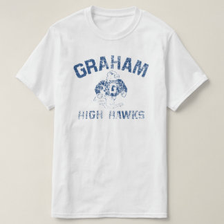 Graham High Hawks Men's White T-Shirt