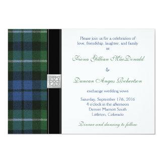 Graham of Montrose Ancient Tartan Celtic Wedding 13 Cm X 18 Cm Invitation Card
