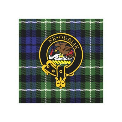 Graham Scottish Crest and Tartan Canvas print