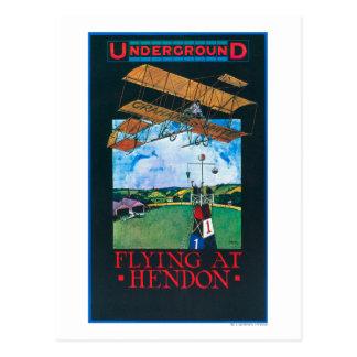 Grahame-White And Plane over Aerodrome Poster Postcard