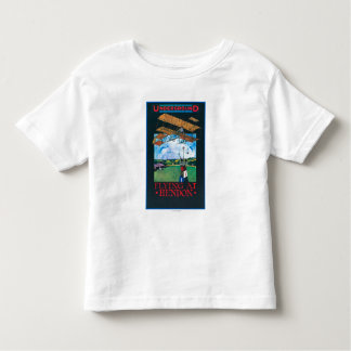 Grahame-White And Plane over Aerodrome Poster Shirt