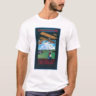 Grahame-White And Plane over Aerodrome Poster T-Shirt