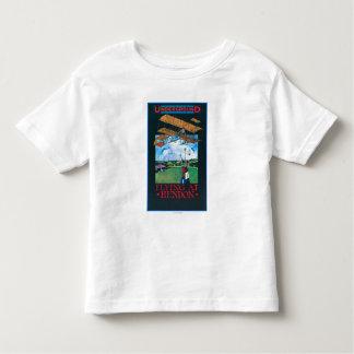 Grahame-White And Plane over Aerodrome Poster Toddler T-Shirt