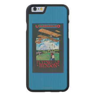 Grahame-White And Plane over Aerodrome Poster Carved® Maple iPhone 6 Case
