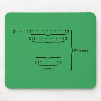 """""""GRAHAM'S NUMBER"""" MOUSE PAD"""