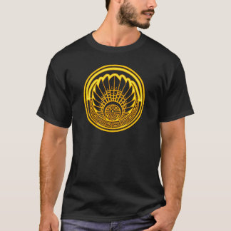 Grain circle - Maya mask - Quetzalcoatl crop T-Shirt
