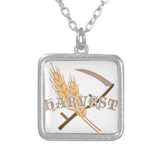 Grain Harvest Square Pendant Necklace