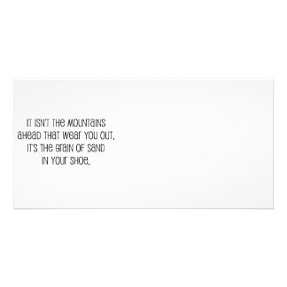 Grain of sand quote design photo cards