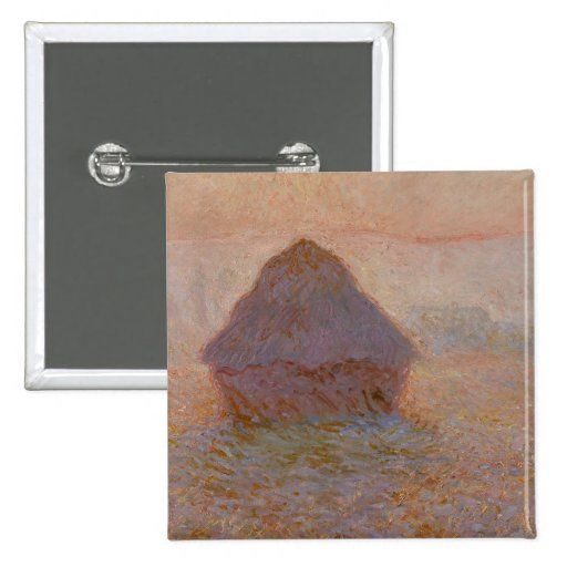 Grainstack, Sun in the Mist, 1891 (oil on canvas) Button