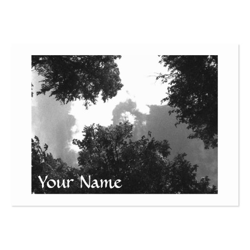 Grainy Black and White image of Trees and Sky. Business Card Templates