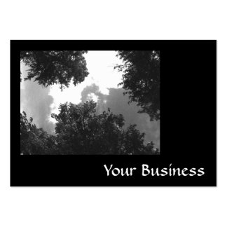 Grainy Black and White image of Trees and Sky. Business Cards