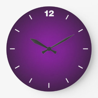 Grainy Purple-Black Vignette Large Clock