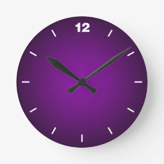 Grainy Purple-Black Vignette Wallclock