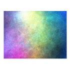 Grainy Rainbow Abstract Postcard