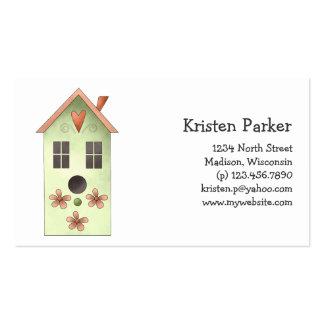 Gram s Garden · Green Birdhouse Business Cards