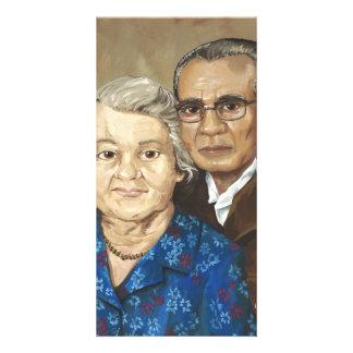 Gramma and Grandpa Apilado Picture Card