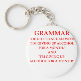 GRAMMAR BASIC ROUND BUTTON KEY RING