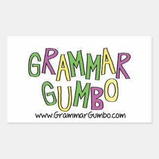 Grammar Gumbo Rectangular Sticker
