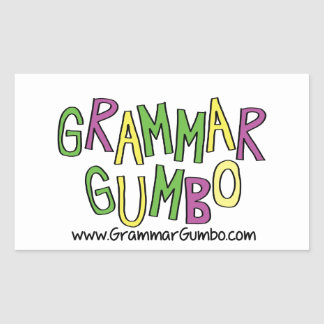 Grammar Gumbo Rectangle Sticker