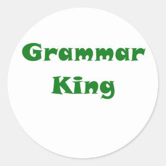 Grammar King Round Sticker