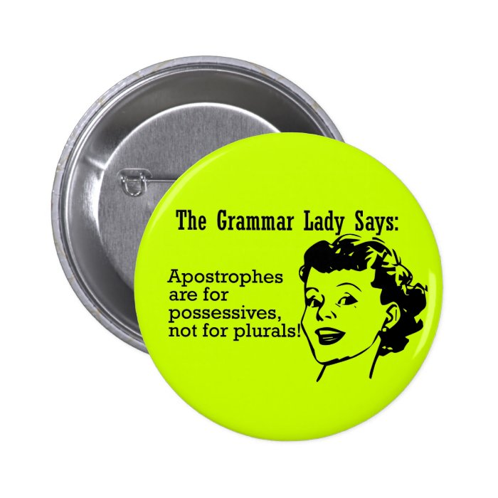 Grammar Lady Apostrophes Buttons