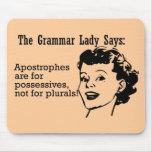 Grammar Lady Apostrophes Mousepad