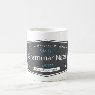 Grammar Nazi Add Your Name Mugs
