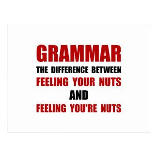 Grammar Nuts Postcard