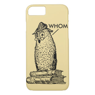Grammar Owl Says Whom iPhone 7 Case
