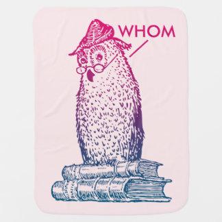 Grammar Owl Says Whom Receiving Blanket
